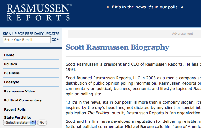 Rasmussen Reports: 2010 Scorecard